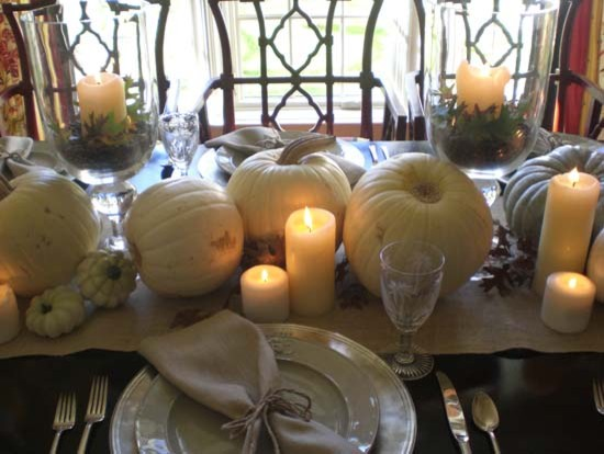 White Pumpkin Thanksgiving Tablescape