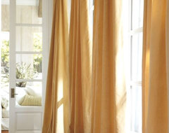 Velvet Drape, Wheat modern-curtains