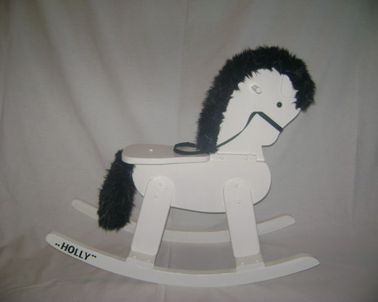 Up Cycling Furniture - After: Transformed rocking horse Painted with Benjamin Moore White Dove OC 17