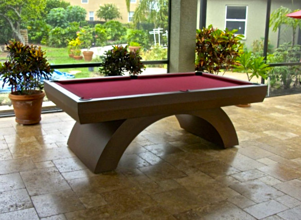 custom rainbow outdoor pool table modern patio