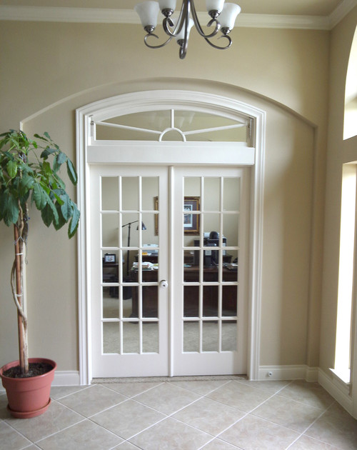 Interior French Doors with Transom 500 x 630