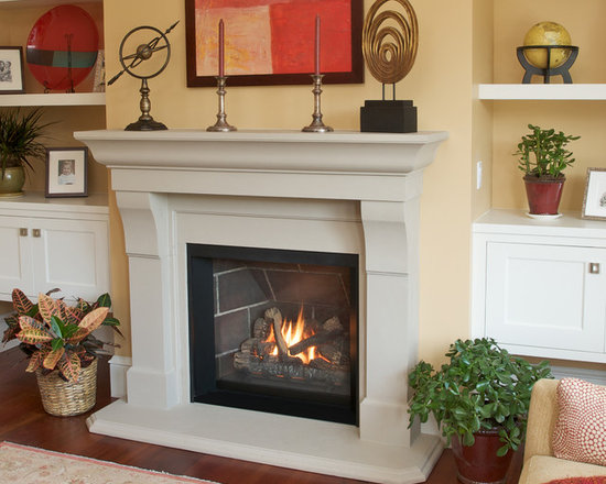 Ventana Series Fireplace - Ventana with Fires of Tradition Corvallis Mantel