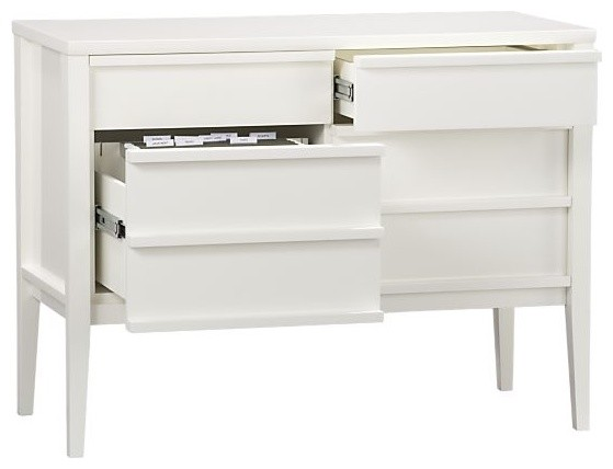 Spotlight White Credenza modern filing cabinets and carts