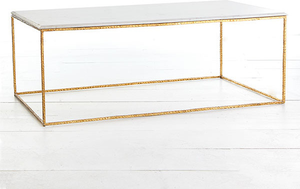 Gold Leaf Collection Coffee Table Modern Tables