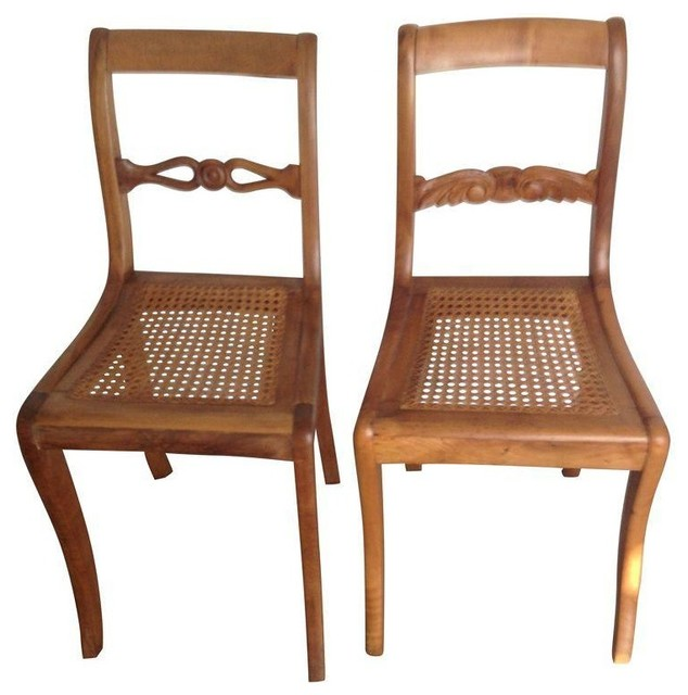 Pre-owned Mid-19th Century Austrian Biedermeier Chairs - Transitional - Dining Chairs - by Chairish