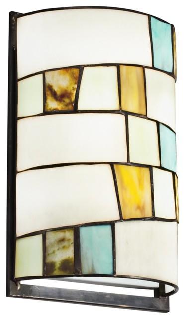 Contemporary Art Glass Wall Sconces : Contemporary Kichler Mihaela 12