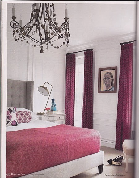Anna Kohlers bedroom (via Caitlin Creer Interiors blog) eclectic