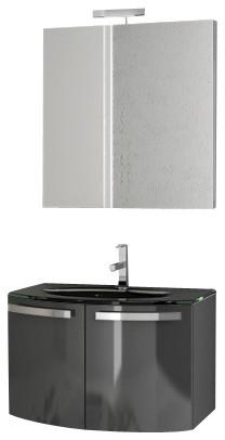28 Inch Glossy Anthracite Bathroom Vanity Set modern-bathroom-vanities-and-sink-consoles