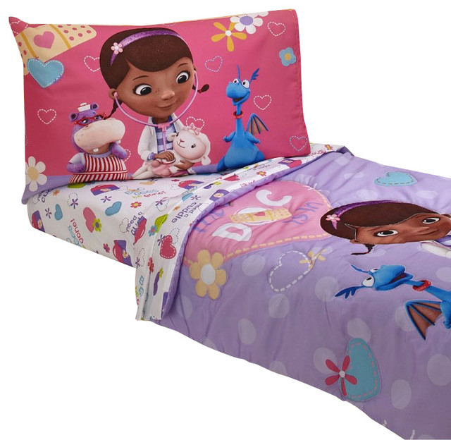 Doc Mcstuffins Toddler Bedding Doctor Is In Comforter Sheets Contemporary Toddler Bedding
