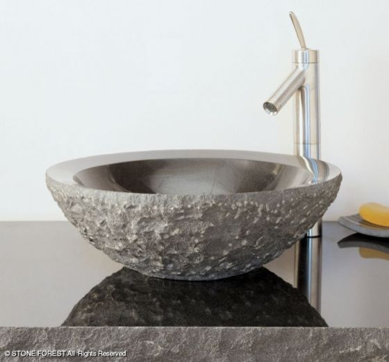 Round Granite Sink : ... Round Sink, chiseled - Eclectic - Bathroom Sinks - by Stone Forest