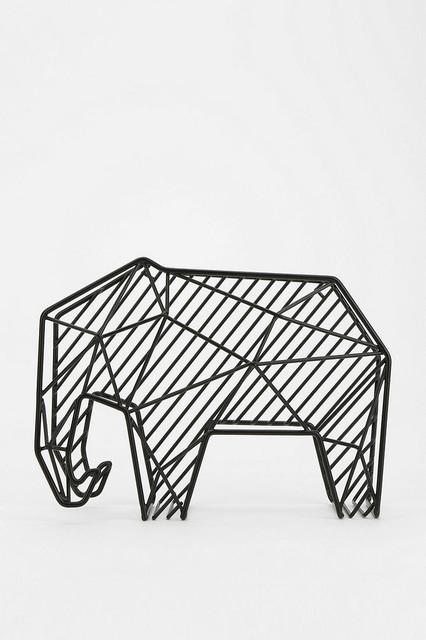 Animal Memo Holder, Elephant contemporary-desk-accessories