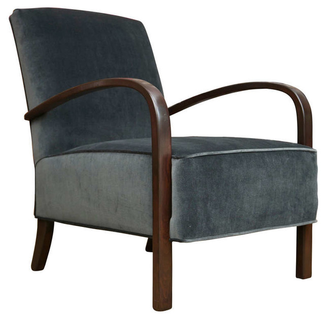 Vintage Art Deco Style Chair Modern Living Room Chairs