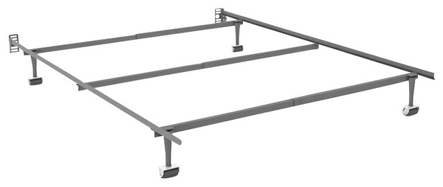 Sonax Steel Bed Frame with Headboard Attachment-King transitional-beds