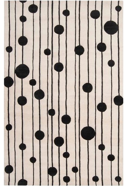 Surya Modern Classics CAN-1999 (Winter White, Jet Black) 9' x 13' Rug contemporary-rugs