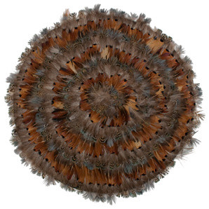 Pheasant Feather Mat - Eclectic - Tablecloths - by Jayson Home