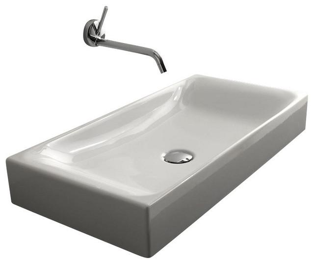 "Cento 3556 Counter Top Ceramic Sink 27.6"" x 13.8"" contemporary-bathroom-sinks"