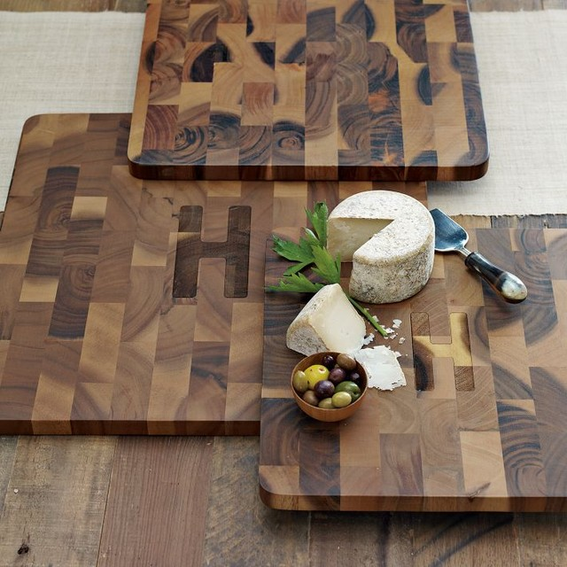 End Grain Cutting Board Modern Cutting Boards By