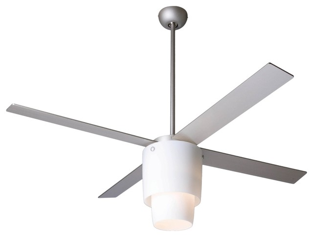 "52"" Modern Fan Halo Nickel Opal Light Ceiling Fan contemporary-ceiling-fans"