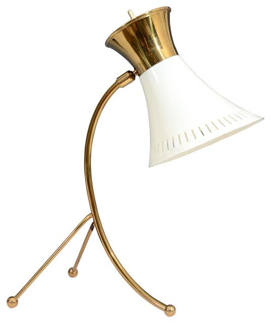 Vintage French Tri-pod Desk Lamp Attributed to Boris Lacroix modern-desk-lamps