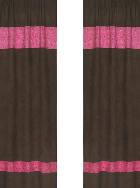 Western Cowgirl Bandana Print and Chocolate Window Panels (Set of 2) contemporary-cellular-shades