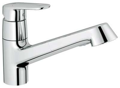 Grohe 32 946 20E Europlus WaterCare Single Handle Dual Spray Pull-Out Kitchen Fa contemporary-kitchen-faucets