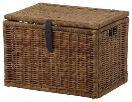 BYHOLMA Chest, Brown modern-storage-boxes