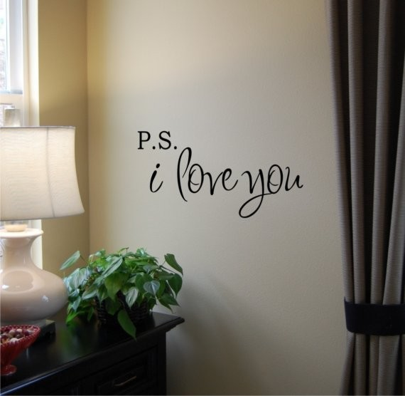 PS I Love You Vinyl Wall Decal by Home Sweet Walls contemporary decals