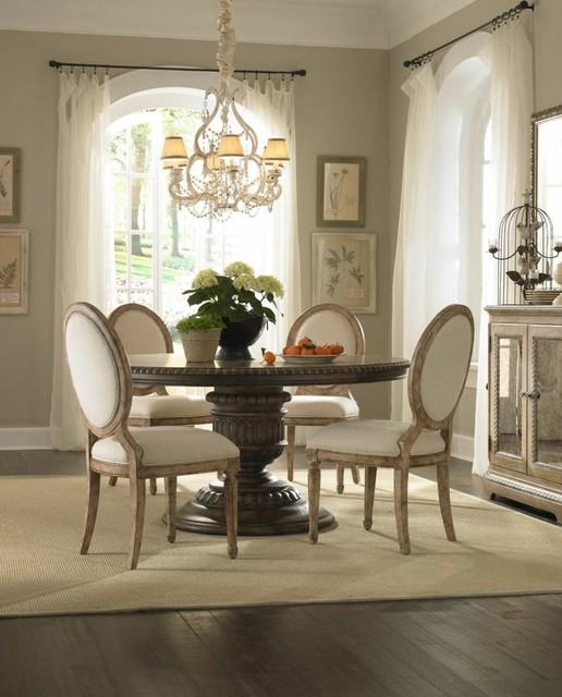 Daphne round pedestal dining table set pulaski for Pulaski dining room furniture