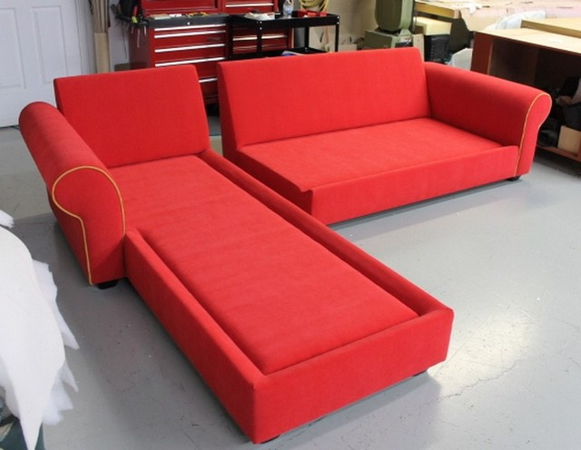 Red Sectional mediterranean-sectional-sofas