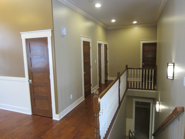 """Edinburgh"" ranch home with full basement... eclectic-staircase"