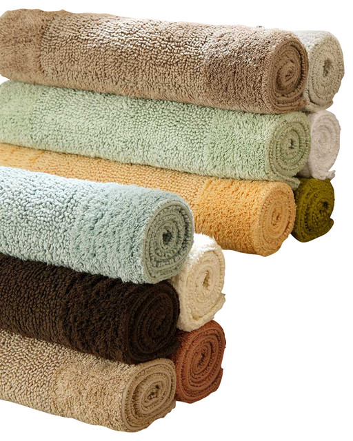 Anini Bath Rug, Medium, Coffee traditional-bath-mats