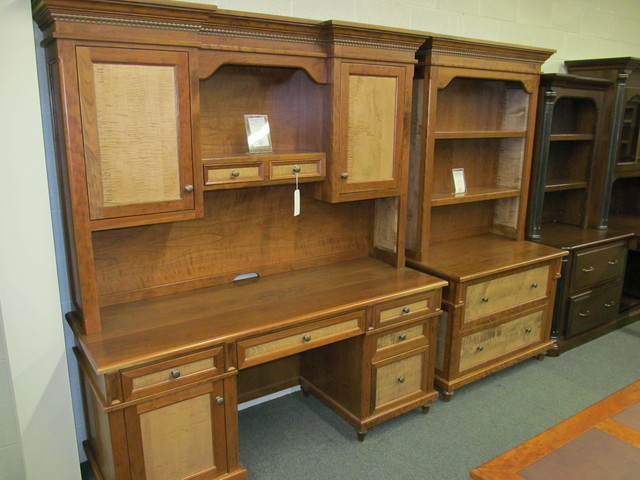 Bridgeport Credenza with Hutch, Lateral File with Hutch - Eclectic - Desks And Hutches ...