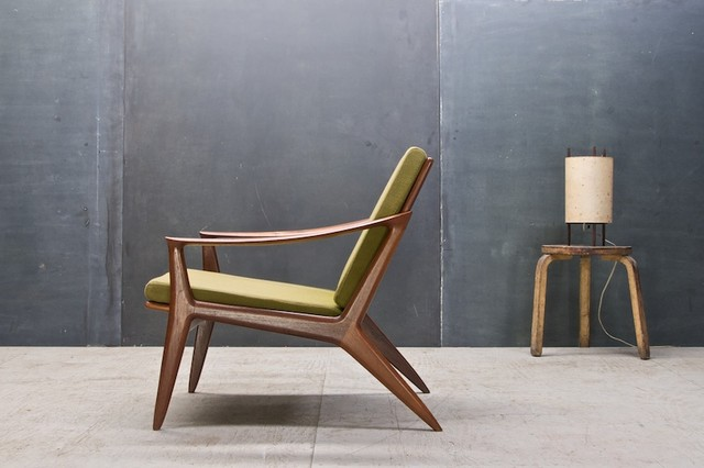 Vintage Danish Modern Relling Bambi Sculptural Teak Chair Modern Armchairs And Accent Chairs