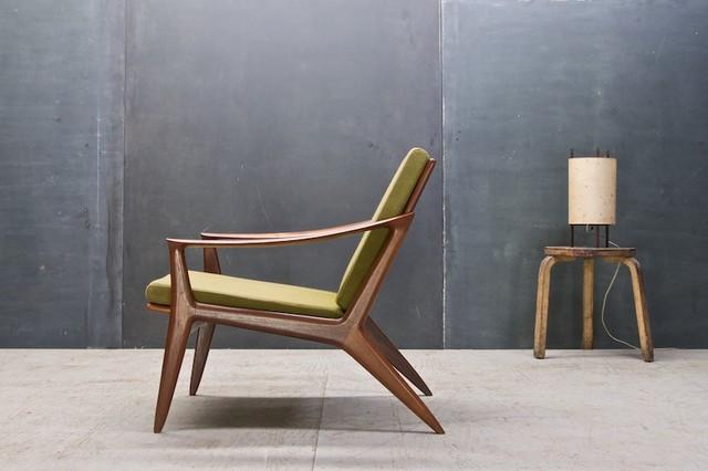 Vintage Danish Modern Relling Bambi Sculptural Teak Chair Modern Armchair