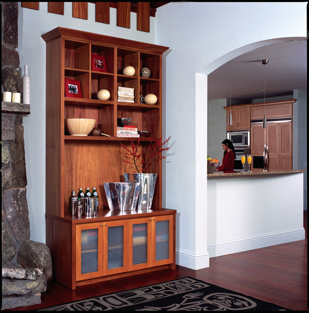 Wall unit and dry bar traditional display and wall for Dry bar furniture ideas