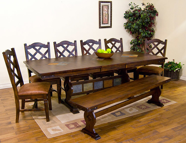 Santa Fe Southwest Furniture Traditional Dining Tables