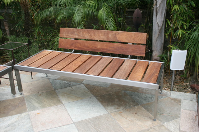 Modern Outdoor Benches : ... Benches _ Stainless Steel Frame - Jon Koehler modern-outdoor-benches