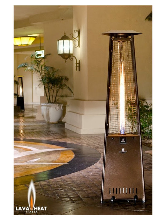 Lava Heat Lite KD Propane Patio Heater - Available in bronze and stainless steel, the Lava Heat Lite KD Propane Patio Heater will stylishly add warmth and ambiance to your favorite outdoor entertaining area. -Mantels Direct