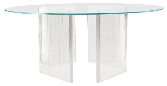 Vintage Lucite Table Base contemporary-table-tops-and-bases