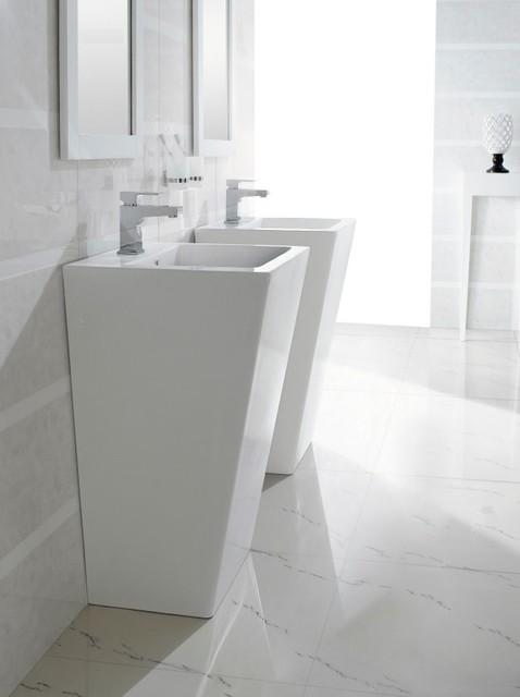 Pedestal Sink Vanity : Aqua Pedestal Sinks - Modern - Bathroom Vanities And Sink Consoles ...