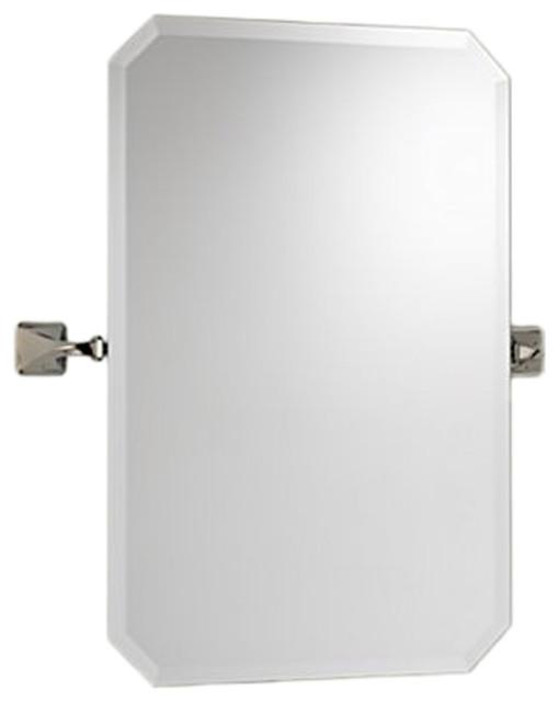 polished nickel bathroom mirrors