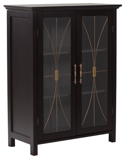 Delaney Floor Cabinet With 2 Doors Transitional