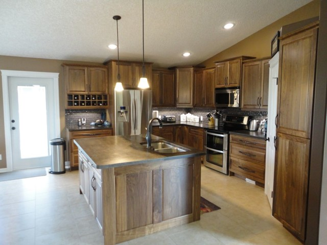 Cardiff Countertops Acid Wash Brown Traditional Kitchen Countertops Edmonton By Concrete