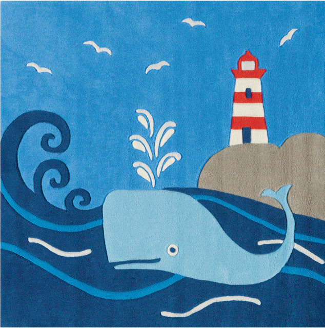 Moby Dick Glow in the Dark Kids Rug  Modern  Kids Rug