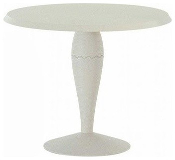 Miss Balu, 36 in., White Round Top modern-side-tables-and-end-tables