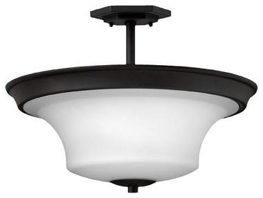 Hinkley Lighting 4632TB 3 Light Semi Flush Foyer Brantley Collection traditional-flush-mount-ceiling-lighting