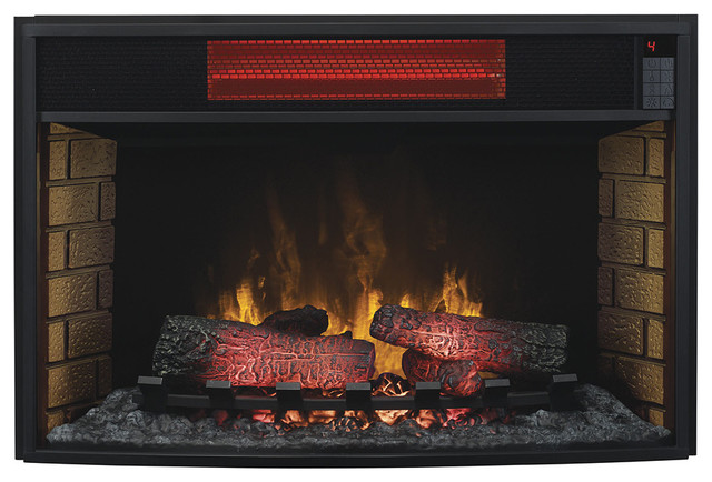 Classicflame 32 in spectrafire infrared electric fireplace - Contemporary electric fireplace insert accessories ...