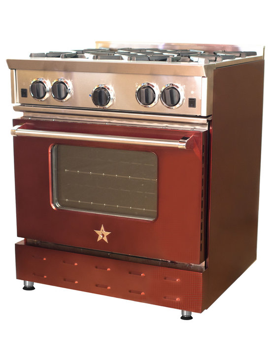 "30"" BlueStar Range in Mahogany - Bold, vibrant, high-volume colors are a big trend throughout the home. The new Jewel Tones collection from BlueStar® brings to life the rich, high-gloss color of real gems that can be seen on fashion runways and in home décor. With the six new Jewel Tones hues, take personalization in the kitchen to the next level."
