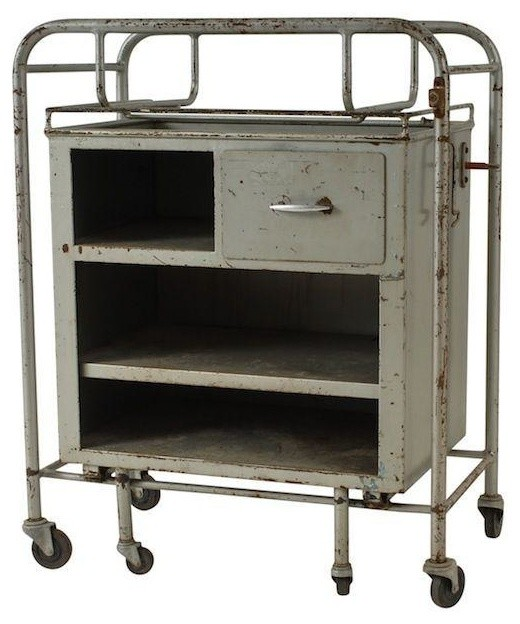 Vintage Metal Industrial Cart - Modern - Filing Cabinets And Carts - by Chairish
