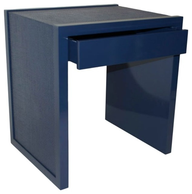 Harbour Island Side Table - Dazzle with Painted Raffia contemporary-side-tables-and-accent-tables